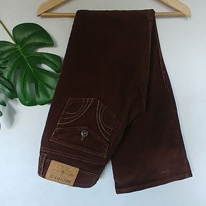 Hollister Bootcut Nrown Corduroy Pants